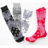 Premium Cotton Bandana Crew Socks