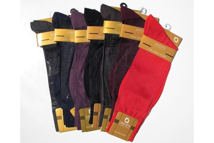 252b56c3bc437 Sheer Silky Formal Dress Socks-Men's