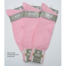 Hot pink wheat textured rayon formal dress socks by Origins size 8-12