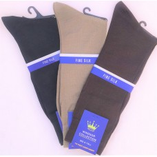 Windsor genuin spun silk dress socks- men's