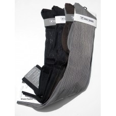 Men- Sheer ribbed nylon over the calf dress socks