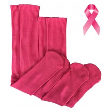 Solid Pink Tube Knee high Socks Or Crew Length