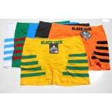 6 Pack BlackJack Men's Striped Seam..