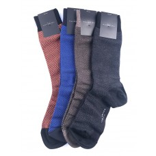 75% Sale 4 Pack Of Designer Herringbone 85% Merino Wool Socks