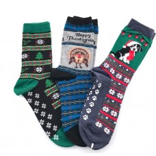50% off 3 Pairs Holiday Christmas socks for Size 4-8 Women