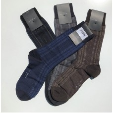 4 Pack Of Ike Behar Durable Pinstriped Merino Wool Socks 75% off