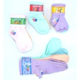 8 Pack cotton assorted color cuffed..