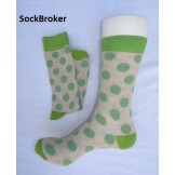 Men's beige and green polka dots cr..