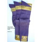 Purple sheer nylon knee high dress ..