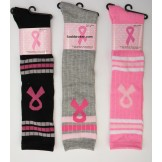 Cancer Awareness knee high socks