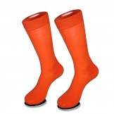 Premium cotton orange dress socks M..