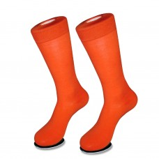 Premium cotton orange dress socks Men's