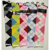 Women's Argyle Knee Socks