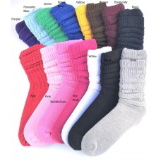 12 PK Of Premium 95% Cotton Slouch Socks Size 5-9