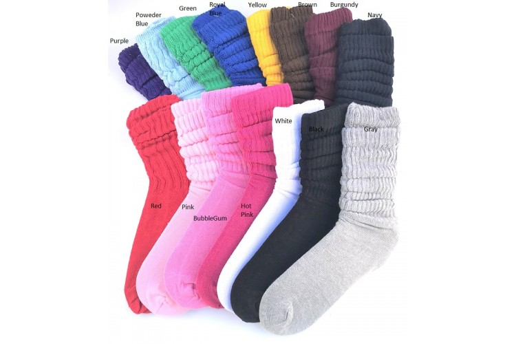 b4cc47b43 3 PK Of Premium 95% Cotton Slouch Socks Size 5-9