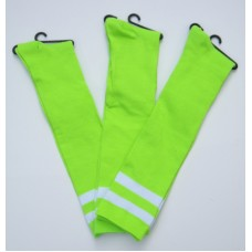 Double striped Neon green knee high socks