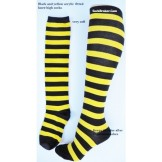 Thick Acrylic black and yellow stri..
