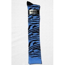 Blue zebra striped knee high socks