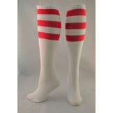 White with red Triple striped knee ..