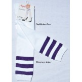 Sale!! 6 White knee high socks with..
