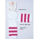 Sale!! 6 White knee high socks with..