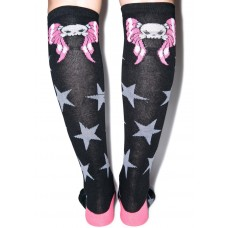 Kreepsville 666 Winged Skull Knee High Socks