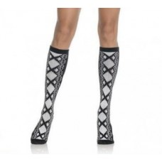 Acrylic Faux lace Up knee high socks