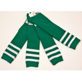 Green and white triple striped knee..