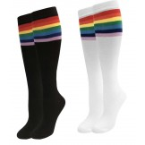 Rainbow Top Striped Knee High Socks