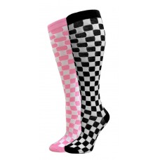 Checkered Knee High Socks sz 5-11