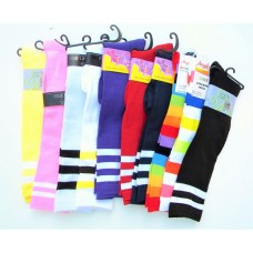 50% Off  10 pack of assorted 3 striped knee high socks