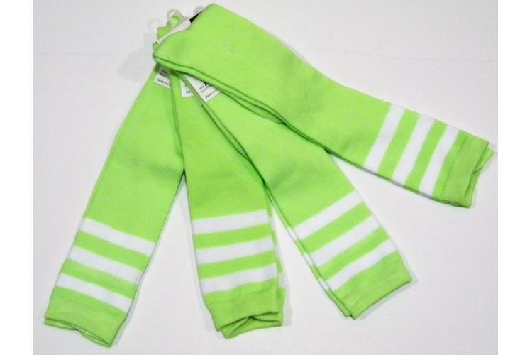 c422932c836 Neon green with white triple striped knee high socks