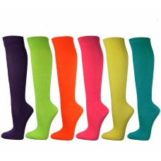 Neon Color Over The Calf / Knee high Socks size 6-11