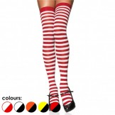 Opaque Red and White Skinny Striped..
