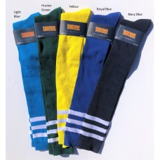 Old School 3 Striped Over The Knee Thigh Hi Socks