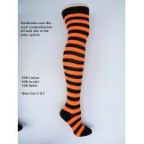 Black-orange cotton thick striped o..