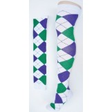 White with green and purple over th..
