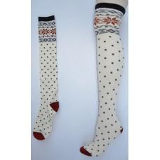 Sale!! O'Neill Ivory polka dot over the  knee thigh hi socks