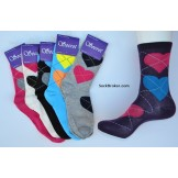 6 pairs of assorted heart argyle mi..