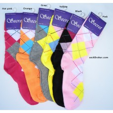6 pairs of assorted argyle mid-calf trouser socks